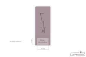 Caja para guardar tudel y caña dulzaina/gralla- croquis